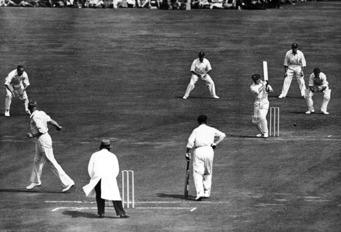 Verity at second slip against the great Don