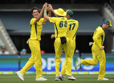 Australia lose seven in chase of 197 to register first win