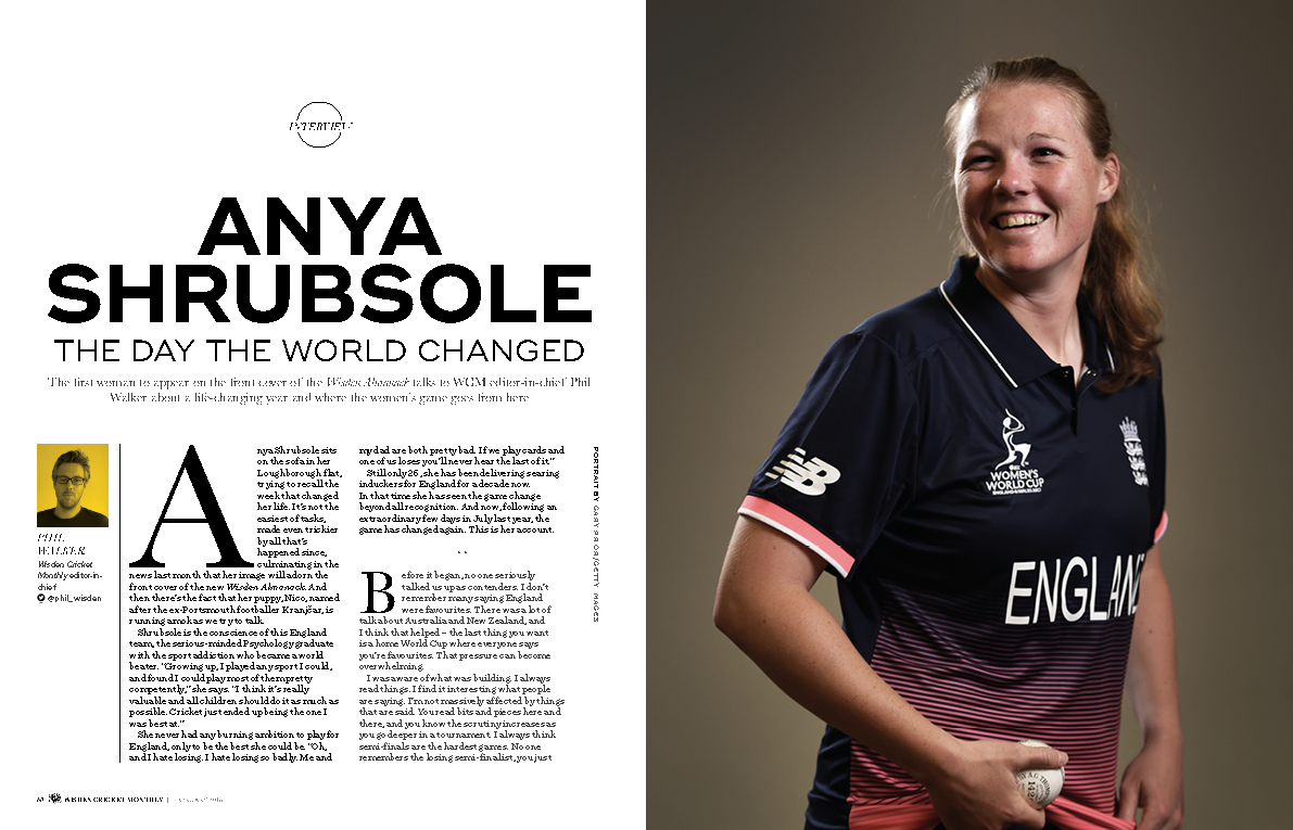 Anya Shrubsole exclusive interview