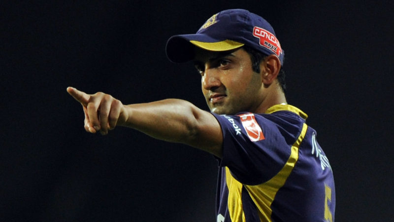 Gambhir led Kolkata Knight Riders to two IPL titles