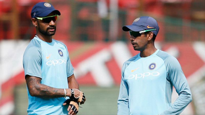 Shikhar Dhawan and Wriddhiman Saha opened the batting for the Hyderabad team