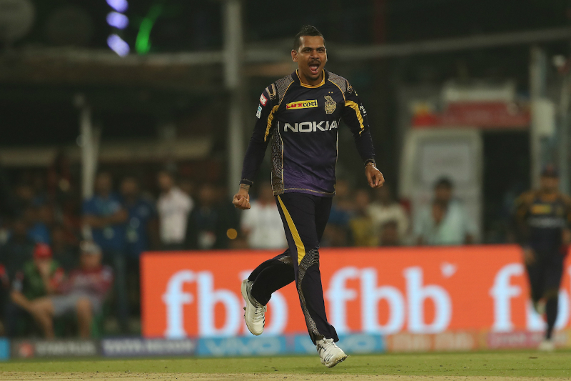 <em>Sunil Narine became only the 10th bowler to get to 100 wickets in the IPL</em>