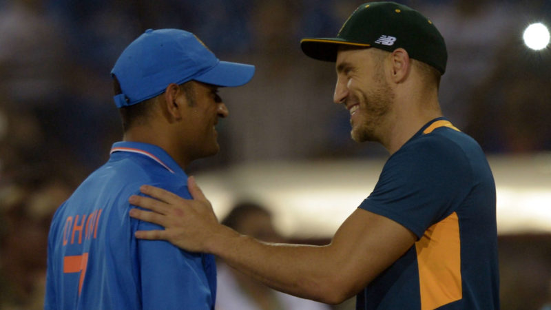 """""""He's really proud of this team, and he's like the big brother of the team, so it's nice that most of us are back here"""" - du Plessis on Dhoni"""