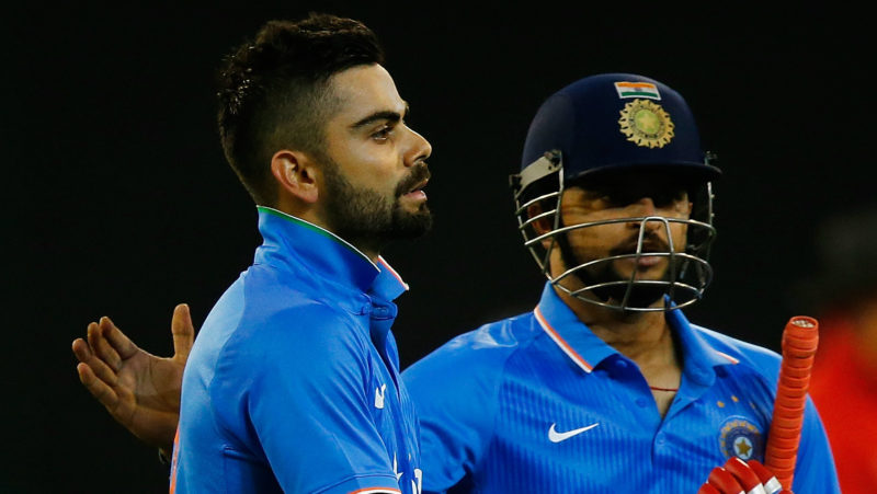Kohli and Raina have scrapped for the top spot for a while now