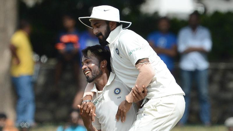 Rahul and Pandya exchanged jerseys at the end of the Mumbai v Punjab game