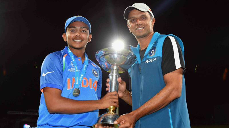Shaw led India to glory at the 2018 U19 World Cup with Dravid as the team coach