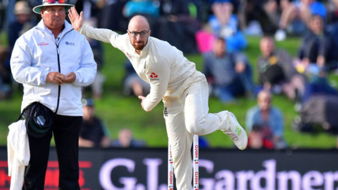England spinner Jack Leach suffers broken thumb in Somerset warm-up
