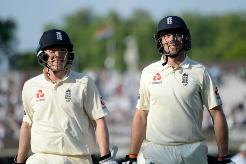 <em>Jos Buttler and Dominic Bess added 126 for the eighth wicket in England's second innings</em>