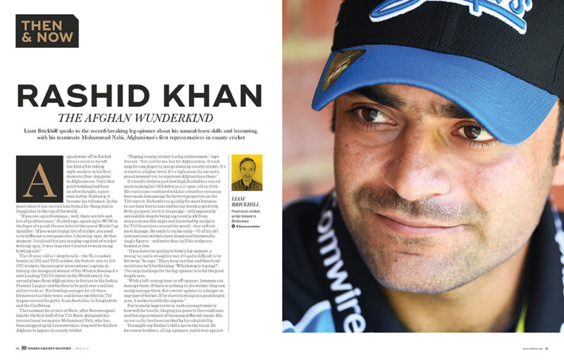 Rashid Khan in Wisden Cricket Monthly