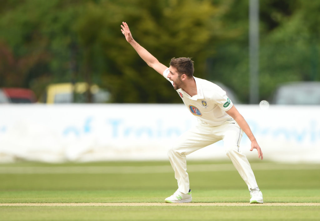 Mark Wood returned a career-best 6-46 for Durham against Derbyshire