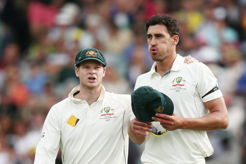 """""""I continue to have the utmost respect for Steve Smith as captain, team-mate and friend"""" - Mitch Starc"""