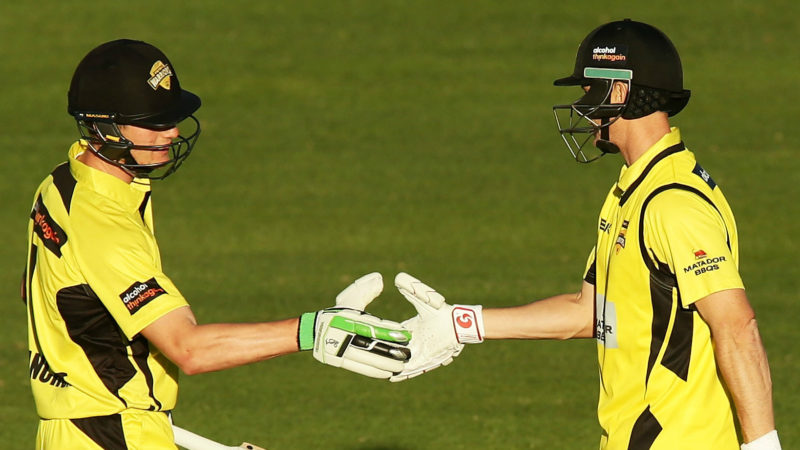 Bancroft L) and Voges have been mates at WA since the younger man started out in 2011