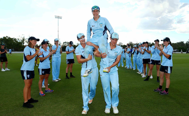 Blackwell wound up a glittering career with Australia and NSW earlier this year, but will continue to play for Sydney Thunder in the WBBL
