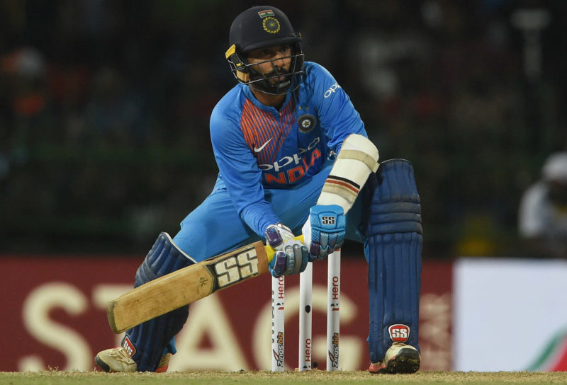 Karthik was at his best at the recent Nidahas Trophy final