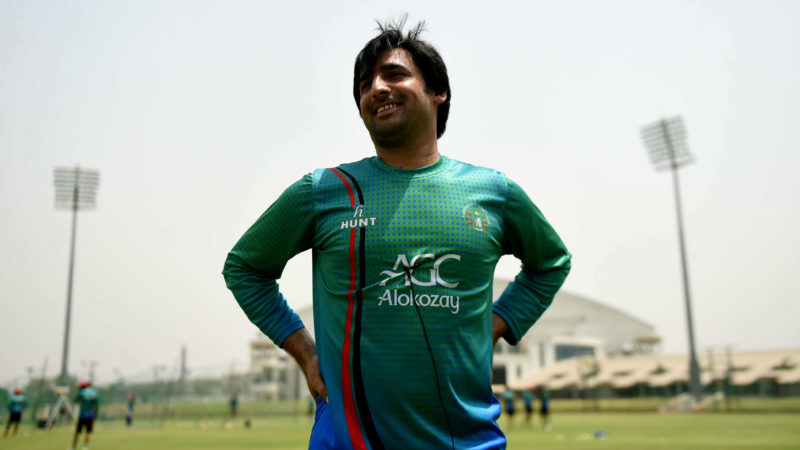 Nerves? What nerves? Asghar Stanikzai exuded confidence ahead of the historic Test