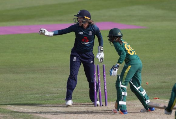 England's Sarah Taylor discusses her incredible stumping against South Africa