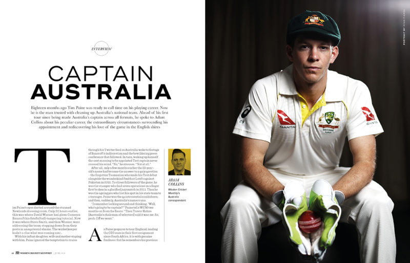 Tim Paine exclusive interview