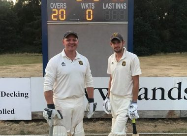Yorkshire village batsmen hit T20 record partnership
