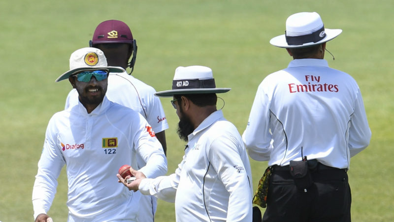 Dinesh Chandimal was banned for tampering in the Caribbean recently
