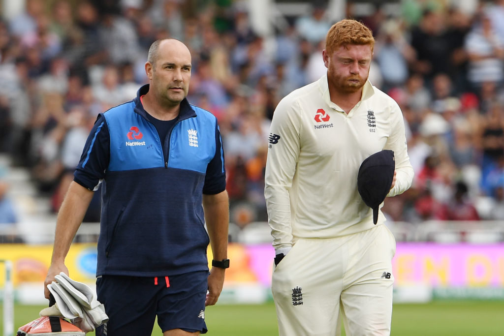 Jonny Bairstow fractured his finger while 'keeping at Trent Bridge