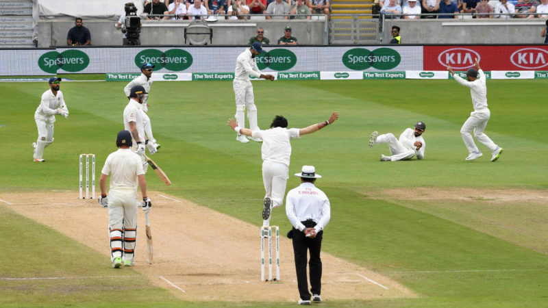All Sharmas five victims in the second innings were caught in the cordon behind the wickets
