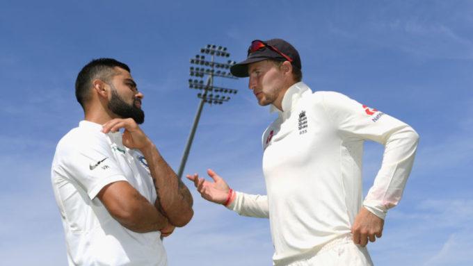 Virat Kohli and Joe Root keep close watch on Lord's surface