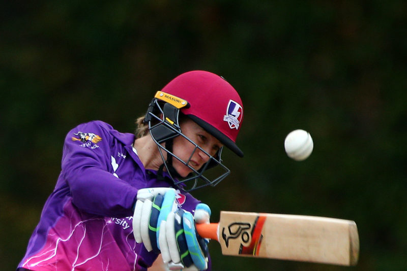Rachael Haynes, the Lightning's opener, top-scored with a 38-ball 47