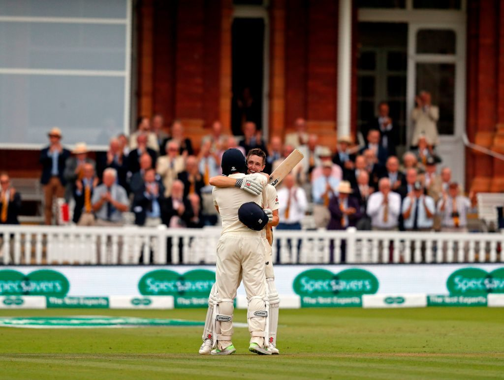 Chris Woakes scored a maiden Test century to take Englands lead to 250