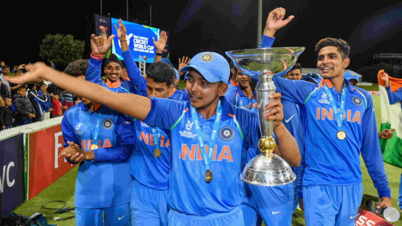 Shaw led India to the Under-19 World Cup title in 2018