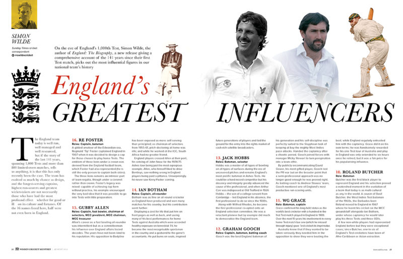 England's greatest influencers