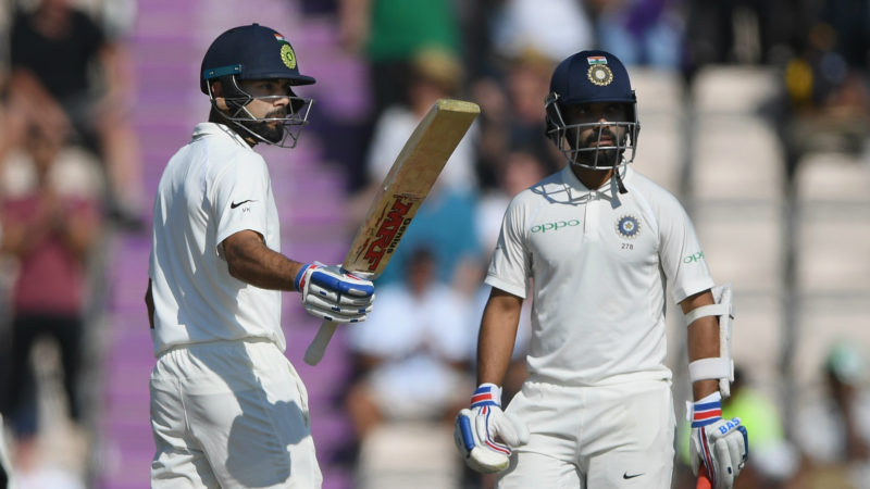 The Indians were in the hunt as long as Kohli and Rahane were in the middle