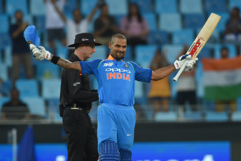 Shikhar Dhawan brought up his 14th ODI hundred, scoring 127 from 120 deliveries