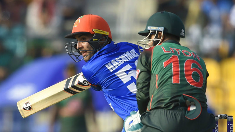 Hashmatullah Shaidi top-scored for Afghanistan with a 99-ball 71