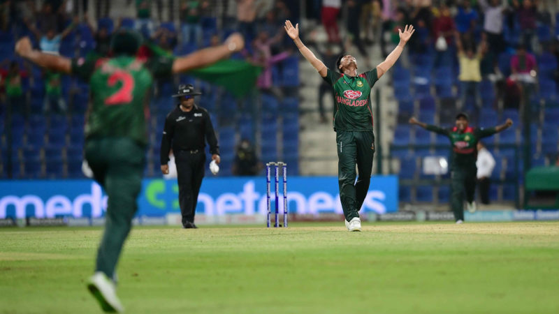 Mustafizur Rahman defended seven runs in the final over