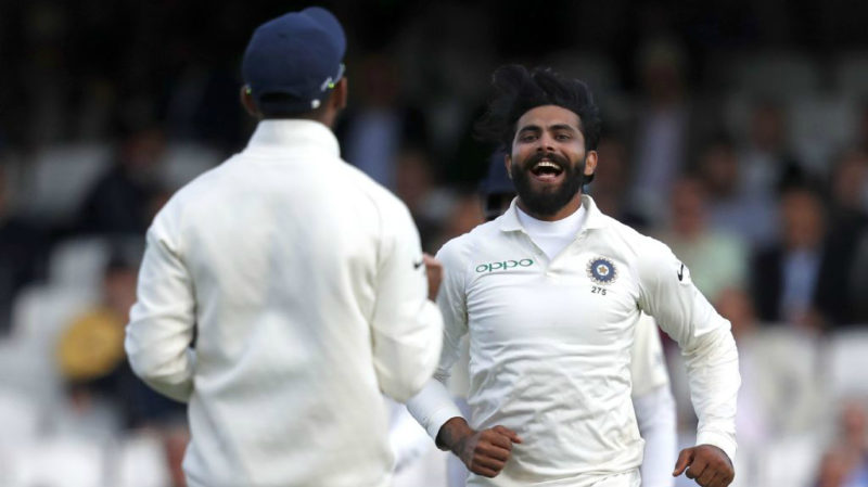 Jadeja returned 2-57 from 24 overs on the first day