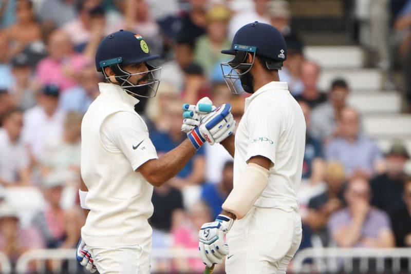 Virat Kohli and Cheteshwar Pujara added 92 runs for the third wicket
