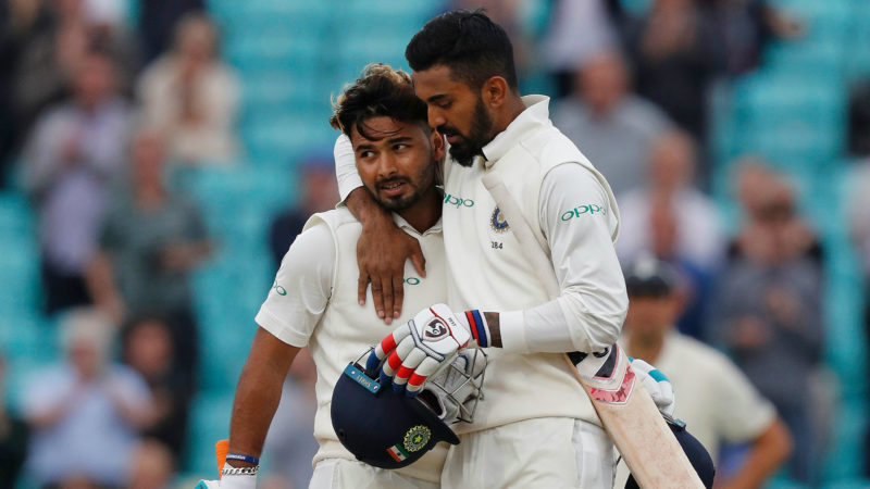Rahul and Pant slammed centuries in the final Test in England