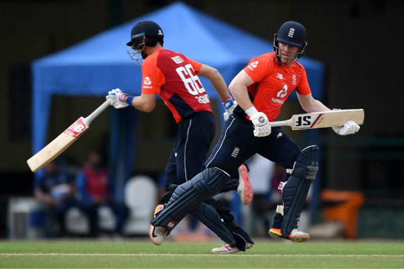 Joe Root and Eoin Morgan shared an unbeaten third-wicket stand of 174 runs