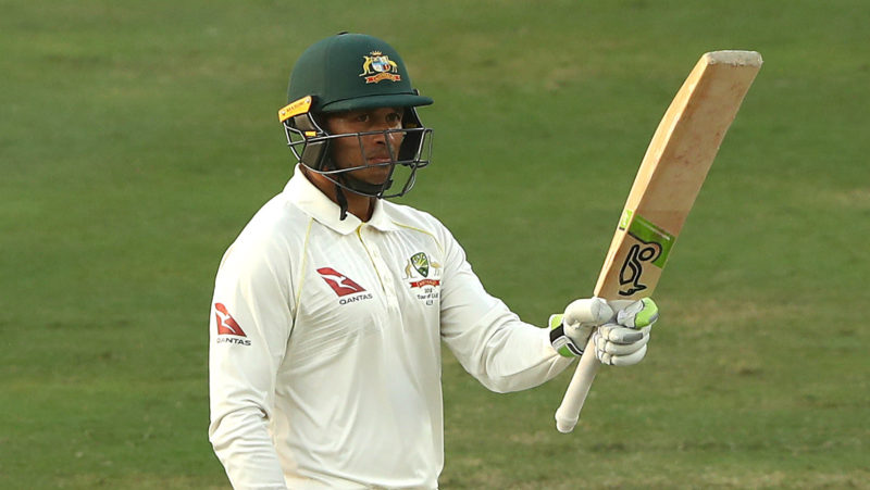Khawaja has scored half-centuries in both innings