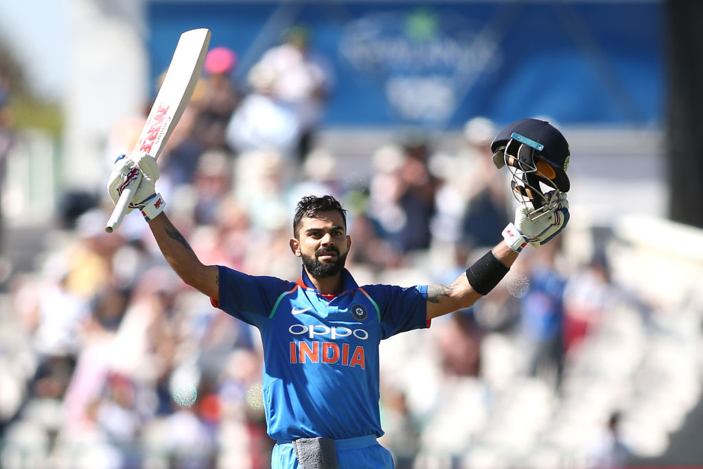 Virat Kohli scored a hat-trick of centuries
