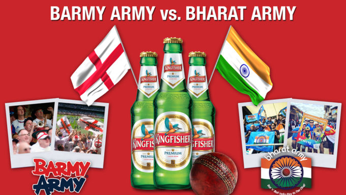 The Kingfisher Challenge: Barmy Army v Bharat Army