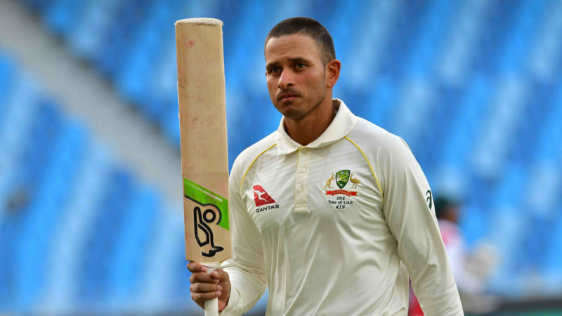 Khawaja was outstanding in the first Test against Pakistan