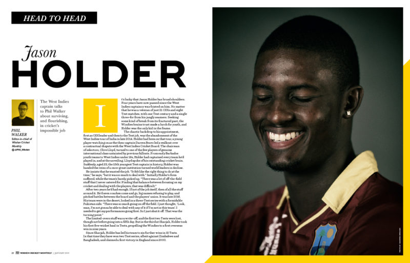 Jason Holder exclusive interview