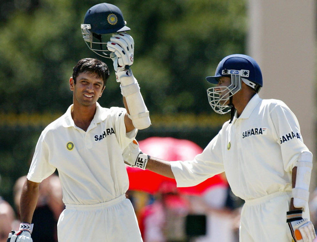 Rahul Dravid guided India to victory in 2003 in Adelaide