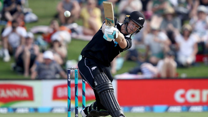 Five sixes in 34-run over for Jimmy Neesham