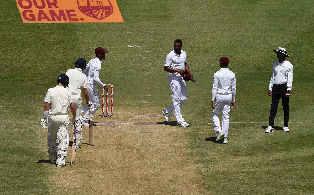 Shannon Gabriel and Joe Root had an intense exchange during Day 3