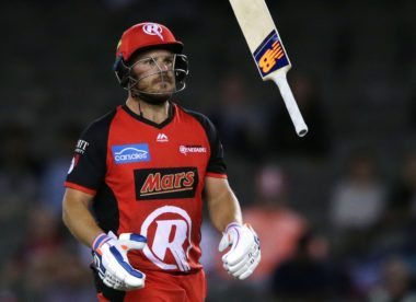 Aaron Finch reprimanded for smashing a chair after BBL final dismissal