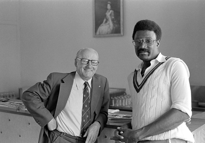 Don Bradman and Clive Lloyd