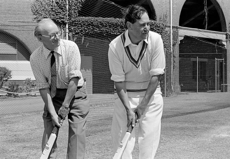 Don Bradman and Colin Cowdrey