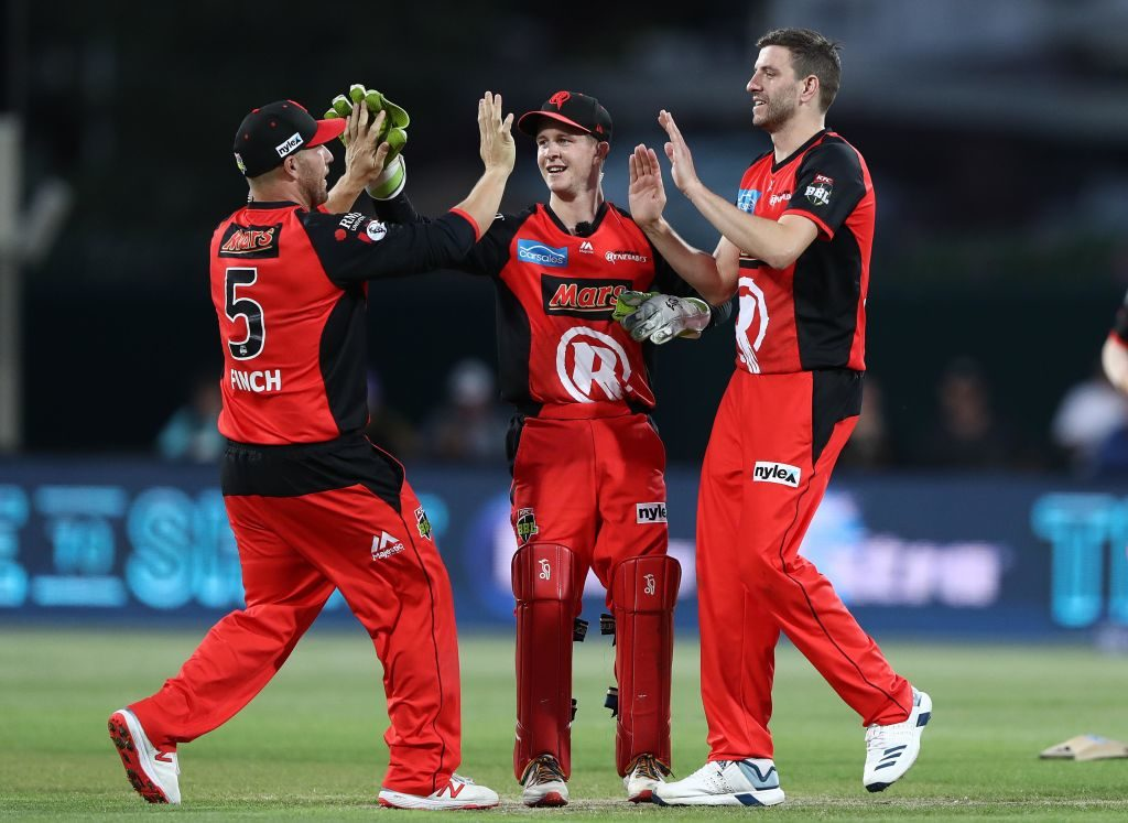 Harry Gurney returned 1-20 in the BBL, the most economical figures by a Renegades bowler
